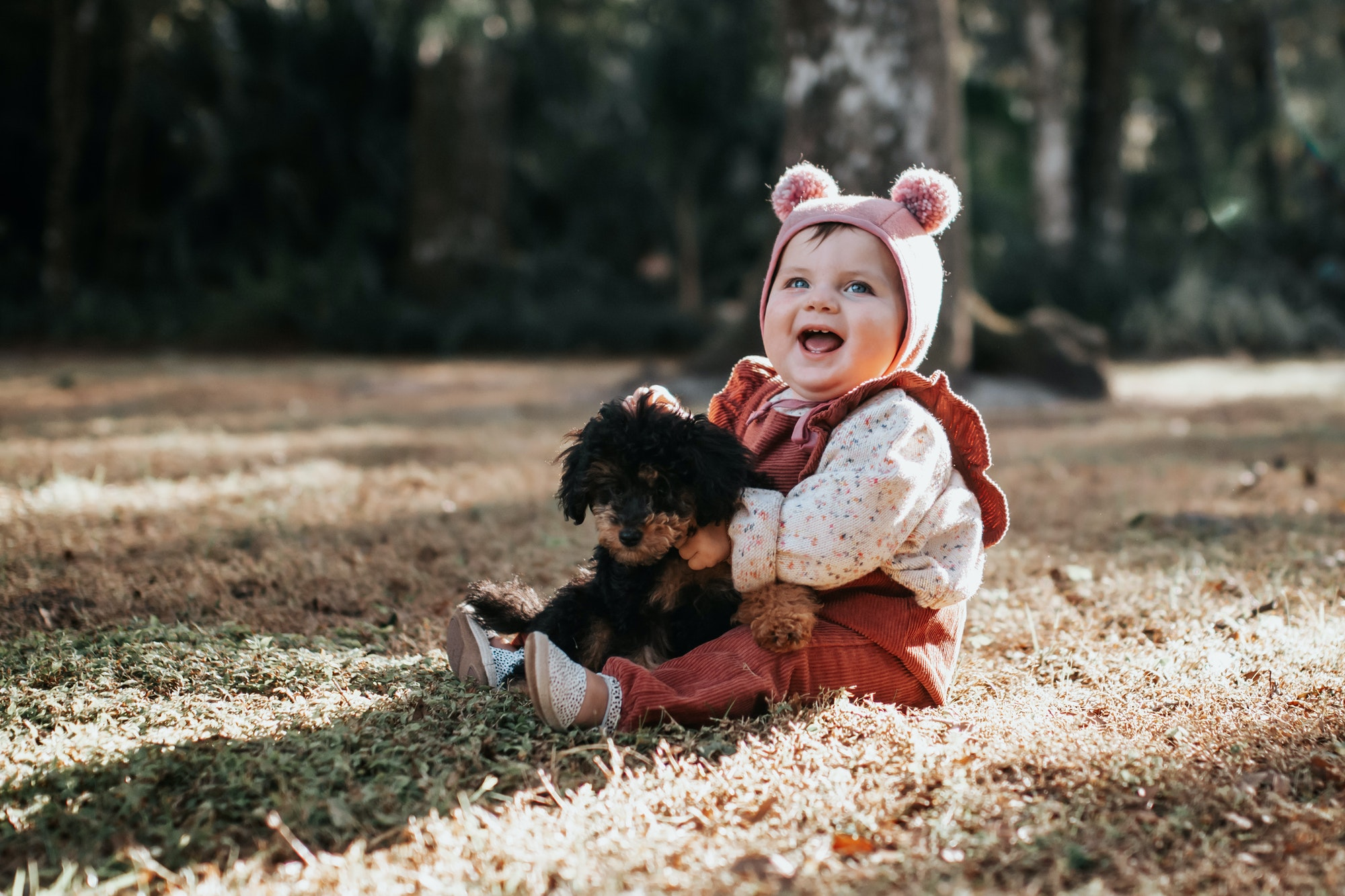 Baby Meets New Puppy